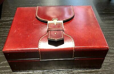 $ CDN32.82 • Buy Rolex Watch Box For Vintage President Day Date Leather & Wood Original Watch Box
