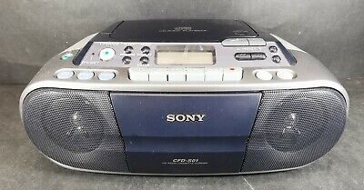 Sony CFD-S01 Boombox CD Player AM/FM Radio Cassette Recorder With Power Cable • 39.99£