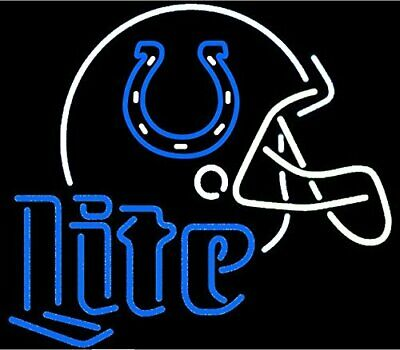 $244.49 • Buy New Indianapolis Colts Miller Lite Helmet Neon Light Sign 24 X20  Lamp Poster