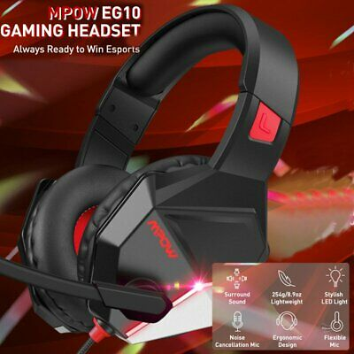 AU36.13 • Buy Pro Gaming Headset With Mic LED Headphones Surround For PC Laptop PS4 Xbox One