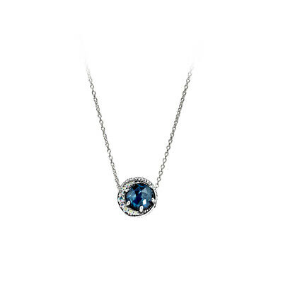 NEW Pandora Authentic Necklace 925silver MOON AND NIGHT SKY  BLUE 45cm • 23.09£