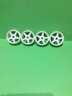 4-1/8 Scale Ofna White Five Spooked Wheels NOS • 4.34£