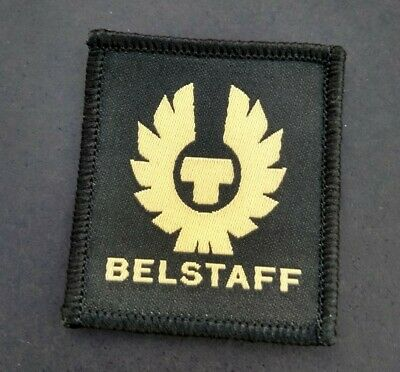 Belstaff Logo Badge - High Quality Woven - 45mm - Vintage Motorcycle Clothing • 9.95£