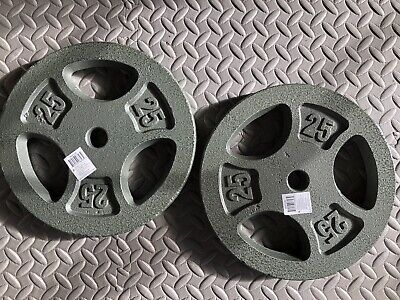 """$ CDN119.38 • Buy 2 NEW 25LB CAP Weight Plates Standard 1"""" (50lbs Total) FREE EXPEDITED SHIPPING!!"""