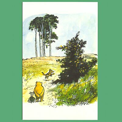 £0.99 • Buy Postcard - Winnie-The-Pooh, Piglet And Tigger Walking In The Hundred Acre Wood