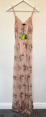 AU1.79 • Buy Misguided BNWT Strappy Sequin Maxi Size 8