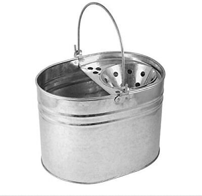£9.95 • Buy Heavy Duty Metal MOP Bucket GALVANISED Strong 15 Litre Capacity For Cleaning New