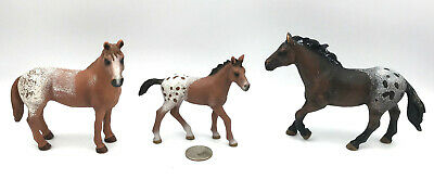Schleich APPALOOSA HORSE FAMILY Figures 2012 Retired 13732 13731 13733 • 24.74£