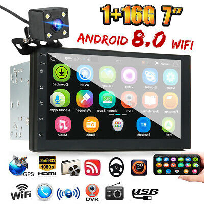 AU128.79 • Buy 2 DIN Car 7'' Radio Stereo Android 8.0 BT GPS Navi WIFI MP5 Player FM AM+Camera
