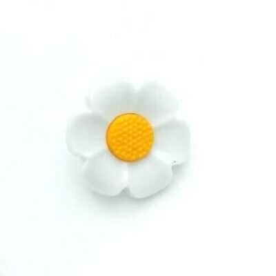 £2.95 • Buy Set Of 5 X 21mm Daisy Flower Shaped Shank Buttons Craft Sewing Knitting Novelty