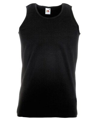 £3.25 • Buy Fruit Of The Loom Athetic Vest Sleeveless T Shirt 5 Colours Sale Price Men