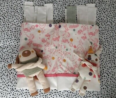 🌿girls Bedroom~joules~pink Animal Tea Party Tab Top Curtains With Tie Backs🌿 • 80£