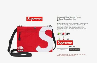 $ CDN123.39 • Buy Supreme Sold Out North Face Tnf Shoulder Bag In Red Ideal Xmas Gift In Hand