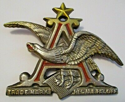 $ CDN12.65 • Buy Original Vintage Anheuser Busch Budweiser Beer Advertising Metal Emblem Sign