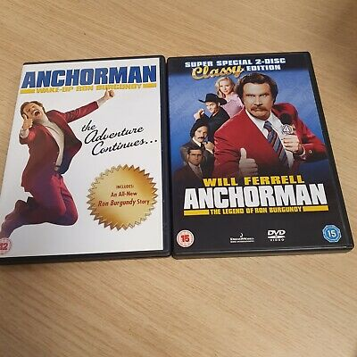 £2.95 • Buy Anchorman And Anchorman Wake Up Ron Burgundy  DVD