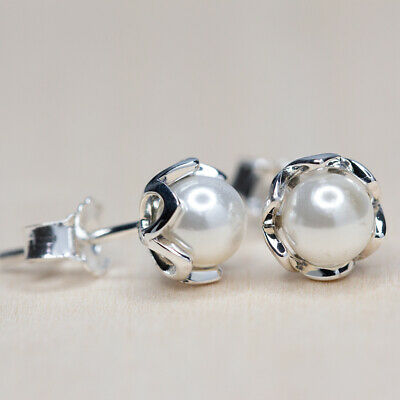 New Authentic Pandora Cultured Elegance Pearl Earrings 290533P W Suede Pouch • 32.56£
