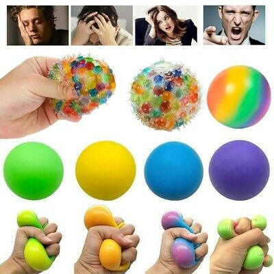 $ CDN4.61 • Buy Squishy Squeeze Sensory Stress Reliever Ball Fidget Toy Autism Anxiety Relief