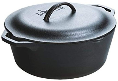 $ CDN151.79 • Buy Lodge Pre-Seasoned Dutch Oven With Loop Handles And Cast Iron Cover, 7 Quart, Bl
