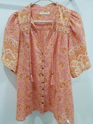 AU91 • Buy Spell And The Gypsy Collective Sundown Short Sleeve Blouse. Size Small. Unworn.