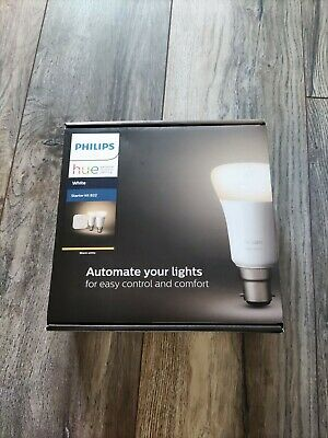 AU95.58 • Buy HUE White Starter Kit Philips  - B22 - Hue Bridge - FREE DELIVERY NEW SEALED