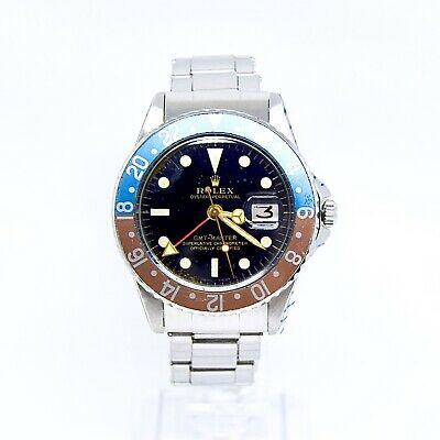 $ CDN37608.58 • Buy Rolex GMT Master 1675 Gilt Dial, Pointed Crown Guard (PCG), Rolex Service 2020