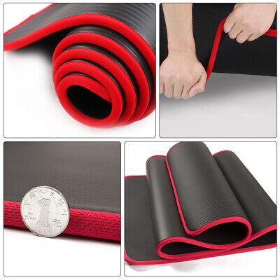 AU15.99 • Buy 10mm Thick NBR Yoga Mat Pilate NonSlip Durable Exercise Fitness Gym Pad