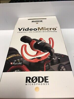 Rode VideoMicro Compact On-Camera Microphone With Rycote Lyre Shock Mount • 32£