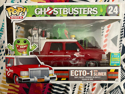 Funko Pop ECTO-1 With Slimer #24 Ghostbusters [2016 Summer Convention] Rides • 26£