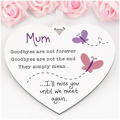 £6.99 • Buy Goodbyes Are Not Forever Mothers Day Butterfly Memorial Mum Nanny Nana ANY NAME