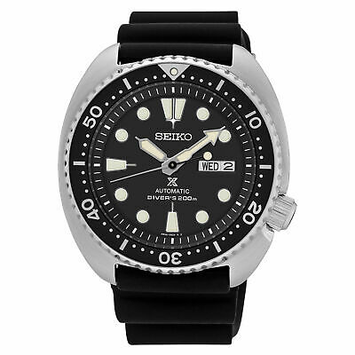 $ CDN463.68 • Buy Seiko Men's Prospex Automatic Diver Black Dial Silicone Strap Watch SRP777