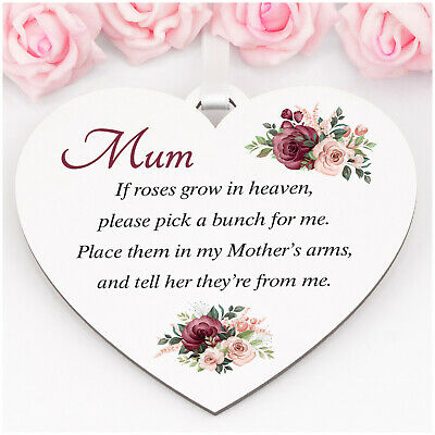 £6.99 • Buy Personalised Mothers Day Memorial Remembrance Rose Plaque Mum Nanny Nan ANY NAME