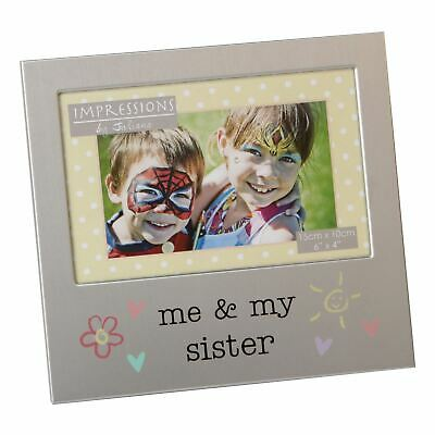 £6.94 • Buy Me And My Sister  Aluminium Photo Picture Frame Gift 6 X 4 - By Juliana