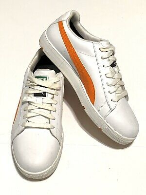 PUMA Mens Golf Shoes Size 7.5 Clyde Spikeless Golf Shoes White Orange  • 7.23£