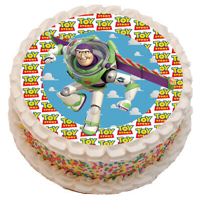 £4.50 • Buy Toy Story Buzz Light Year Theme 8  Birthday Cake Edible Round Printed Topper