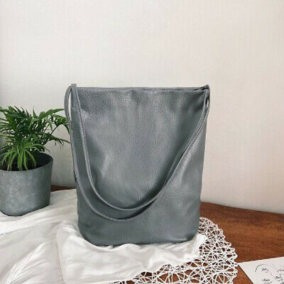 $ CDN22.91 • Buy Ladies Bucket Bags Large Capacity Handbags Women Shopping Bag Faux Leather NEW