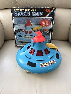 VINTAGE RETRO 1970s BOXED FIRING SPACE SHIP TOY GWO • 4.99£