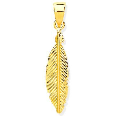 £34.99 • Buy 9ct Gold Feather Pendant - Gift Boxed - Fully Hallmarked - 9ct Gold 375 - Small