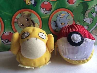 Pokemon Plush Psyduck Reversible Ball Soft Pokeball Doll Stuffed Soft Figure Toy • 14.46£