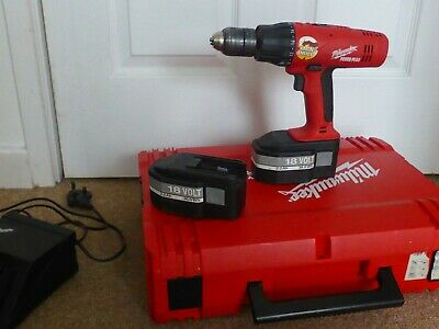 Milwaukee Cordless Hammer Drill, 2 Batteries & Charger In Case, Buyer Collect • 120£