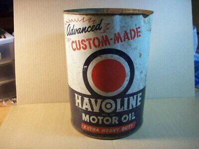 $ CDN24.06 • Buy 5 Quart Metal Oil Can For Havolin Made In The USA