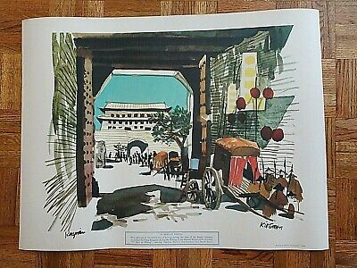Charlton Heston Ava Gardner 55 Days At Peking 1963 Bronston Production Painting • 253.26£