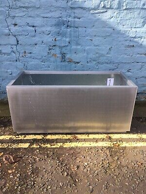 Silver Trough Planter Garden Plant Pot Flower Bed Rectangle Extra Large. #1 • 7£
