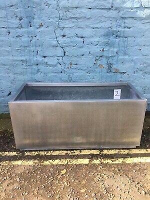 Silver Trough Planter Garden Plant Pot Flower Bed Rectangle Extra Large. #2 • 5£