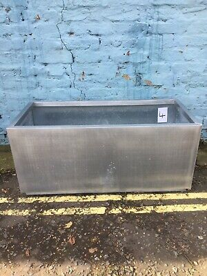Silver Trough Planter Garden Plant Pot Flower Bed Rectangle Extra Large. #4 • 5£