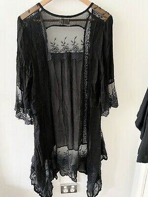 AU65 • Buy Spell And The Gypsy Collective Lace Black Kimono Duster One Size Rare Vintage