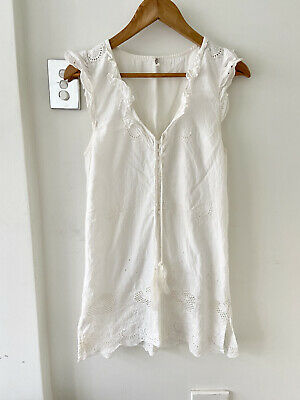AU80 • Buy SPELL AND THE GYPSY COLLECTIVE White Lace Mini Dress 8 ( 6 S XS ) Boho Summer
