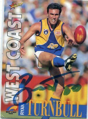 AU5 • Buy AFL Select 1996 #64 Eagles Ryan Turnbull Autographed Card