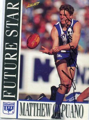 AU5 • Buy AFL Select 1996 #215 Kangaroos Matthew Capuano Autographed Card