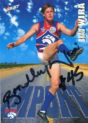 AU5 • Buy AFL Select 1996 #314 Bulldogs Brad Wira Autographed Card