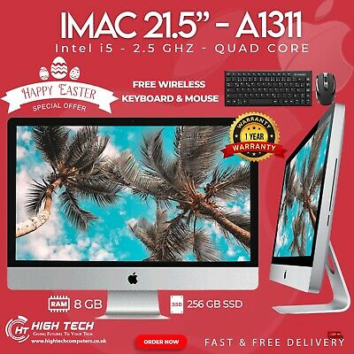 APPLE IMAC A1311 21.5  2011 INTEL CORE I5 2nd Gen 8GB RAM 240GB SSD WEBCAM • 449.99£